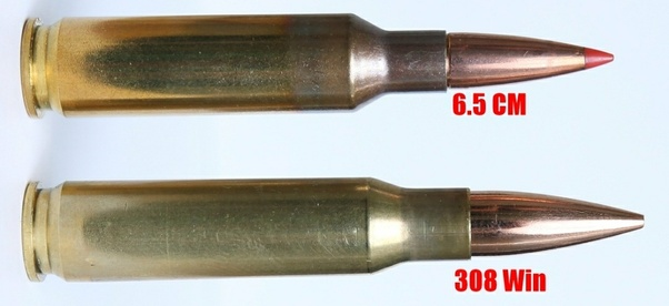6.5 Creedmoor (Top) .308 Winchester (Bottom)