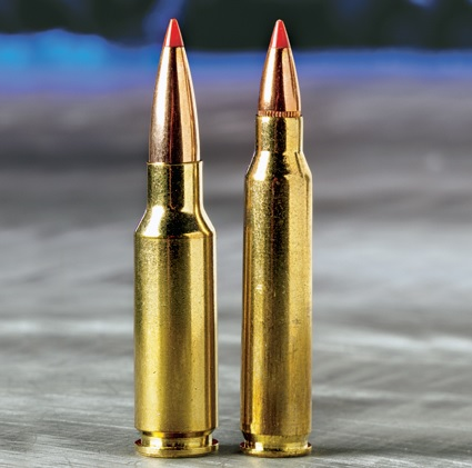 6.5 Grendel (Left) 5.56 NATO (Right)